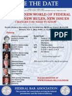 Federal Civil Practice CLE Program SDNY - May 5