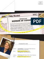 Women Lead direct mail piece for Charlotte Lane