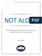 White House Recommendations On How to Handle Campus Sexual Assaults