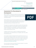 Assessment for Recruitment & Development - MGL Human Resources