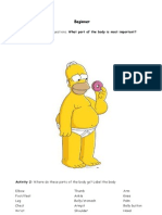 Body Parts Homer