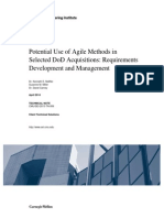 Potential Use of Agile Methods in Selected DoD Acquisitions