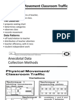 Physical Movement and Classroom Traffic