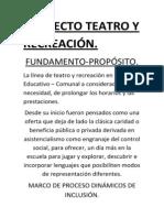 Proyecto Teatro y Recreación