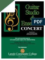Flyer Perf Arts GuitarEnsemble Studio Spr2014