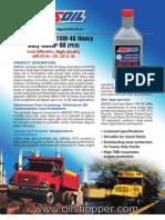 Synthetic Blend 15W-40 Heavy Duty Motor Oil available at www.oilshopper.com
