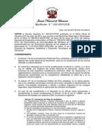 Número de regidores provinciales y regidores distritales y aplicación de cuotas electorales para las Elecciones Municipales 2014