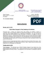 Wayne County Prosecutor News Updates April 13 - April 19