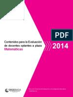DOC_Mate Para Evaluacion Diagnostica 2014