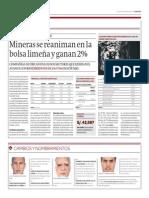 Mineras Se Reaniman en La BVL y Ganan 2%_Gestión 30-04-2014