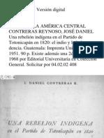Contreras Daniel -Una Rebelion Indigena en El Partido de Totonicapan