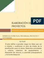 Sesion 1. Diferencias Entre Plan Programa y Proyecto