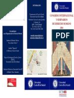 Tríptico Actividades Derecho Romano 2014 (Uc3m)