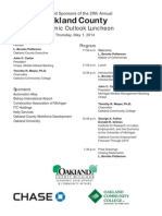 THE ECONOMIC OUTLOOK FOR OAKLAND COUNTY IN 2014–2016