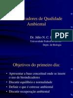 Bioindicadores de Qualidade Ambiental I