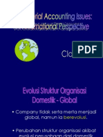 Managerial Accounting Issues:  An International Perspective