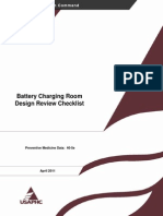 Battery Charging Room Design Review Checklist