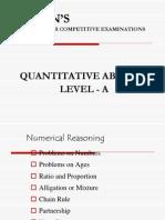 Quantitative Ability - Level A
