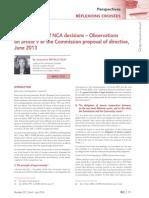 Binding Effect of NCA Decision