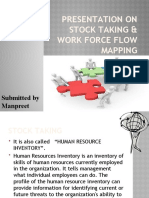 Presentation on Stock Taking & Work Force Flow