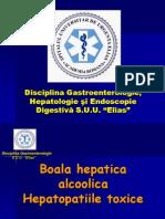 10.Boala alcoolica hepatica +hepatopatii toxice CM