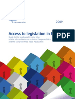 Access to legislation in Europe