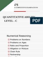 Quantitative Ability - Level c
