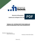 Manual de Domiciliacion de Cuentas Bancarias Para Pago Electronico