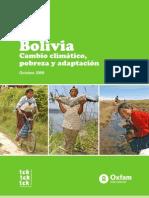 Bolivia Cambio Climatico Adaptacion Sp 0911