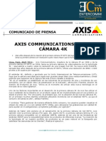 NP Axis Communications -Axis Co mmunications lanza cámara 4K