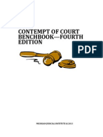 Contempt of Court Bench Book 2013