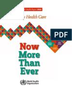 World Health Report 2008