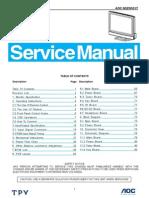 Manual Servico Tv Lcd Aoc n32w551t