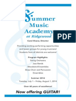 Summer Music Academy 2014