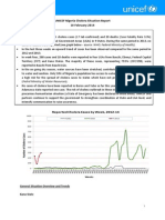 UNICEF Nigeria Cholera Situation Report - 10 February 2014