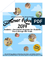 Summer Adventure Brochure 2014