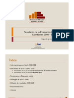 RESULTADOS EVALUACIÓN CENSAL ESTUDIANTES - 2° GRADO DE PRIMARIA 2008