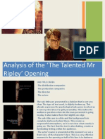 The Talented Mr Ripley Powerpoint