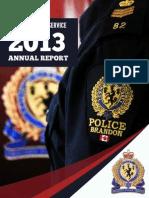 2013 Brandon Police Service Annual Report