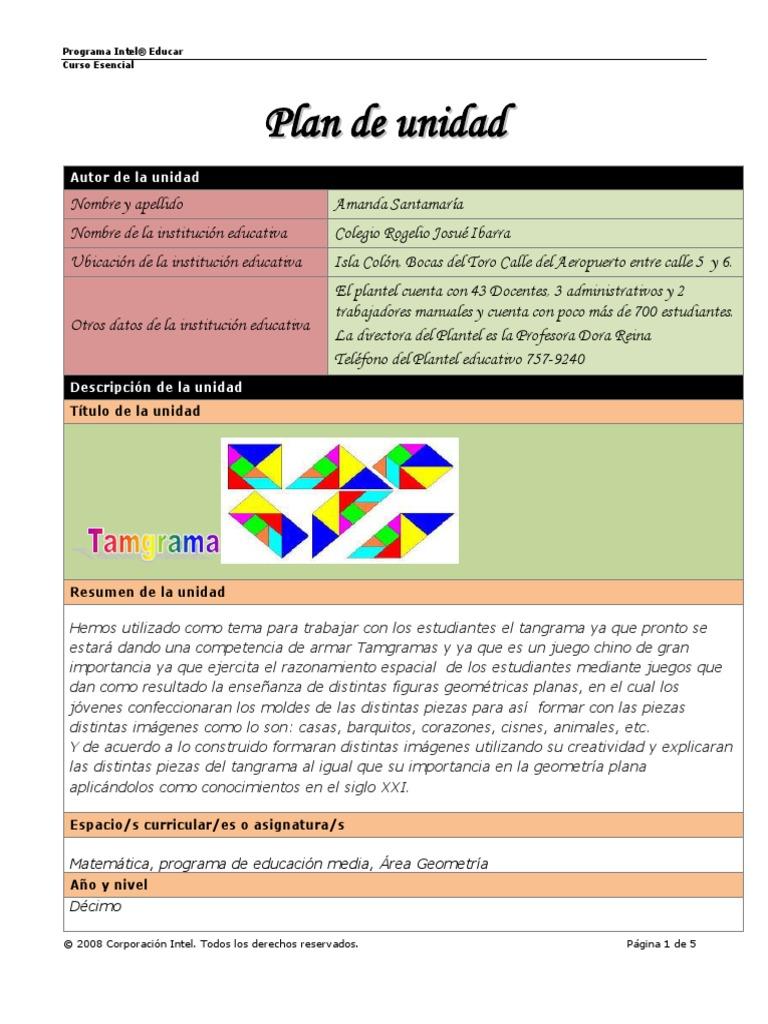 Magnífico Plantilla De Plan De Lección De Unidad Composición ...
