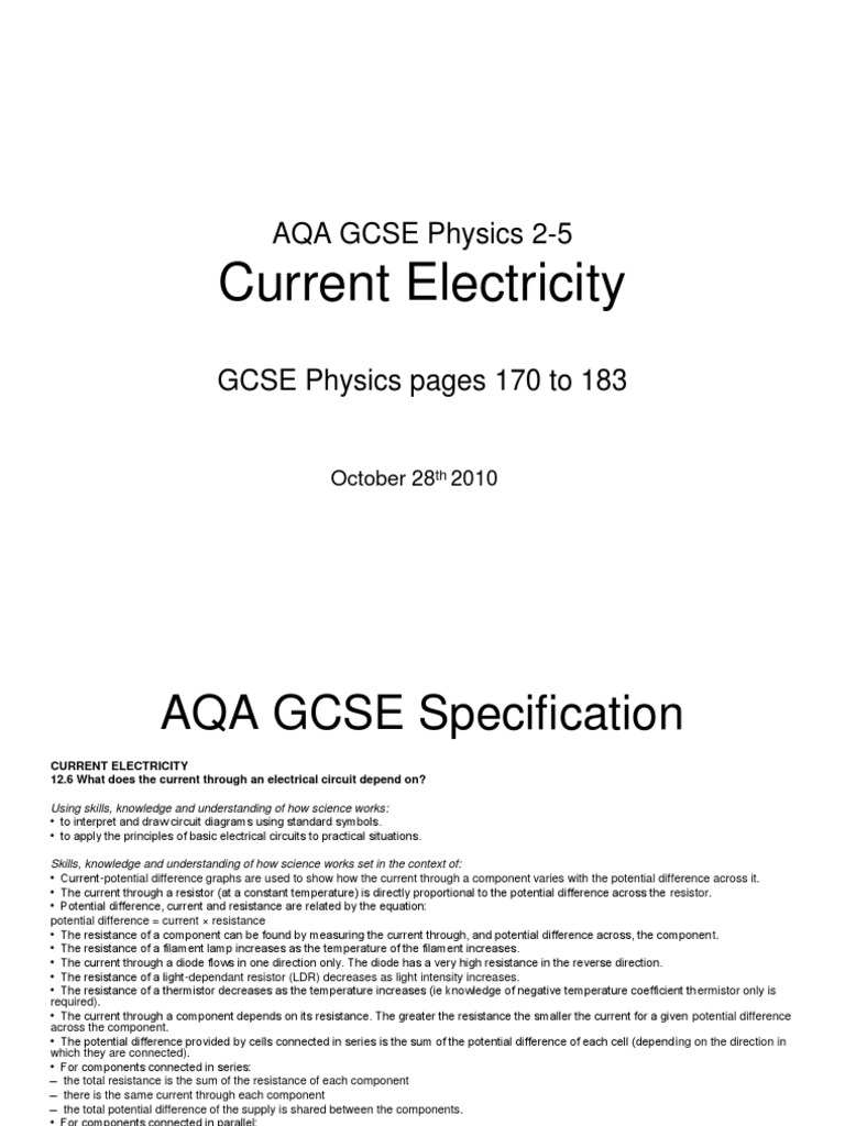 Electricity Symbols Gcse Electrical Circuits Basics 25 Currentelectricity Series And Parallel
