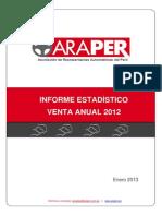 Informe Estadistico Araper - 2012