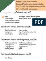 Cours_de_genetique Licence 2 ROUSSEAU