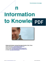 From Information to Knowledge