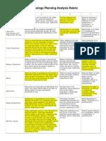 KKing Tech Plan Analysis Rubric