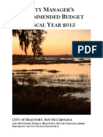 City of Beaufort City Manager's Recommended Budget, FY 2015