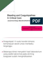 Bleeding an coagulopati in critical care.ppt