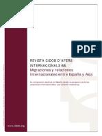 Migraciones y Relaciones Internacionales Entre España y Asia