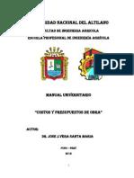 Manual de Costos y Presup. de Obra