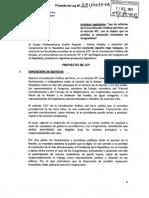 Proyecto de Ley N° 2811/2013 que propone la reforma de la Constitución para prohibir la reelección inmediata de Congresistas